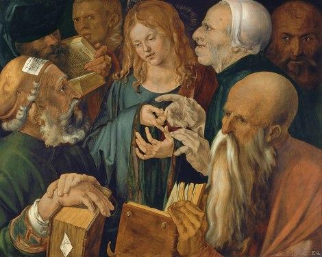 Alberto Durero, 'Jesús entre los doctores'.